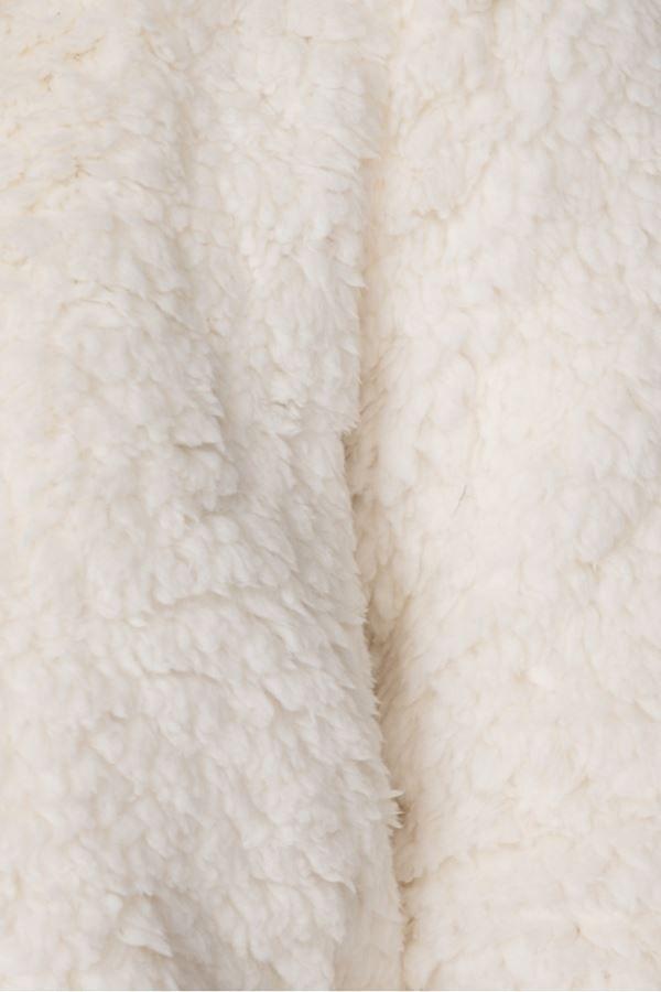 μπουφάν faux γούνα borg κρεμ.
