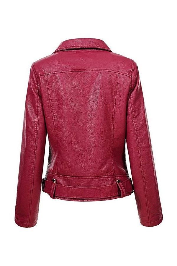 JACKET SHORT PADDED LEATHERETTE BORDEAUX FSWY67381