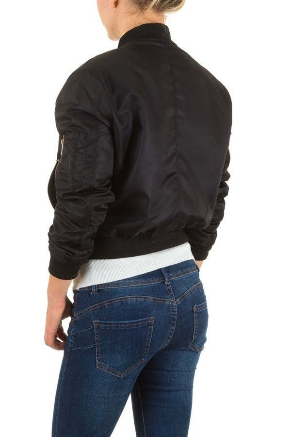 JACKET FLY SHORT ZIP BLACK FSWS9031