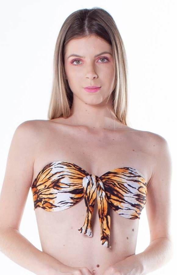 brazilian bikini swimsuit sexy animal print tigre.