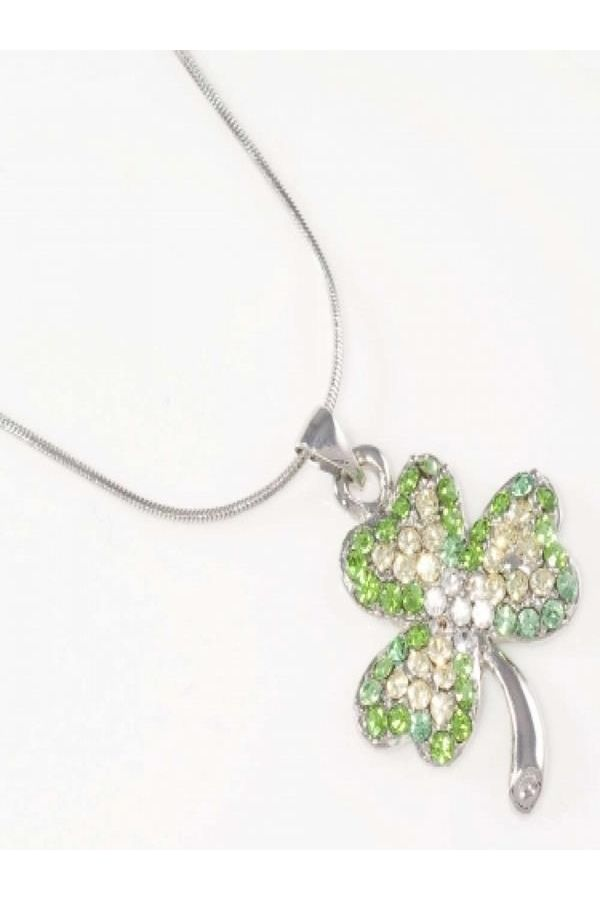 womens impressing collier silver green