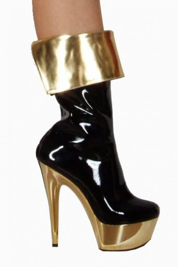 NIL199 ANKLE BOOT BLACK GOLD