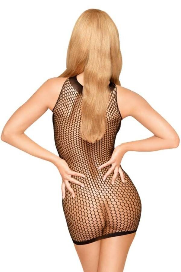 Night Dress Net Penthouse Black DRED227701