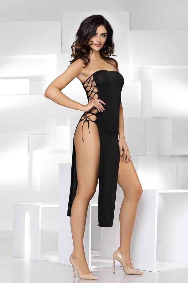night dress sexy strapless black.