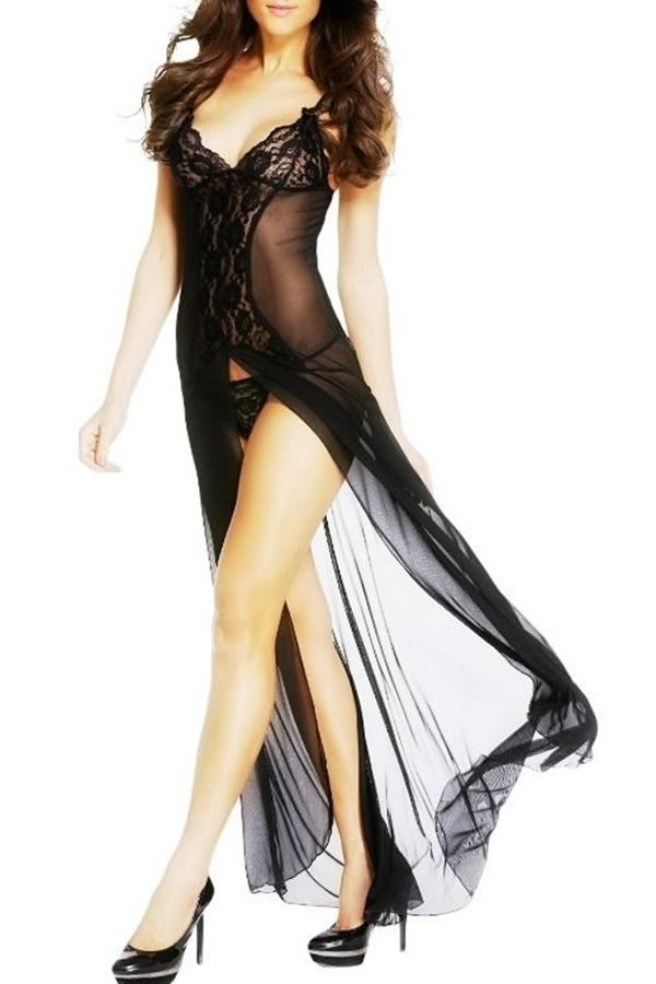SLEEPWEAR GOWN BLACK DRE208537