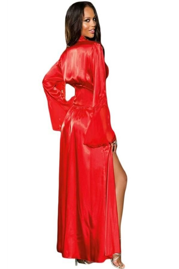 SLEEPWEAR GOWN LACE RED DRE216937