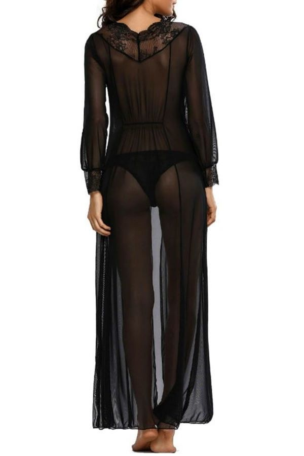SLEEPWEAR GOWN BLACK DRE212399