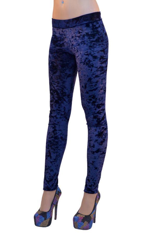 γυναικείο ελαστικό βελούδινο παντελόνι μπλε