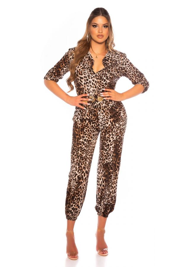 JUMPSUIT AIRY BUTTONS LEOPARD ISDV377714