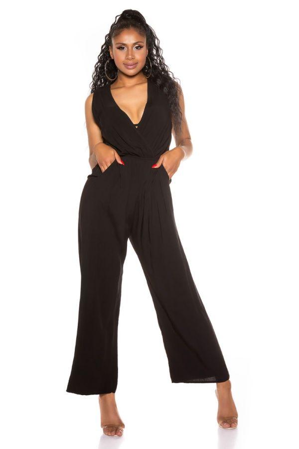 Jumpsuit Casual Sleeveless Black ISDV67118