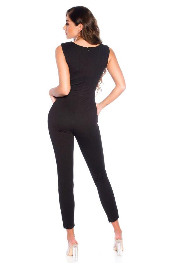 jumpsuit evening sleeveless black.
