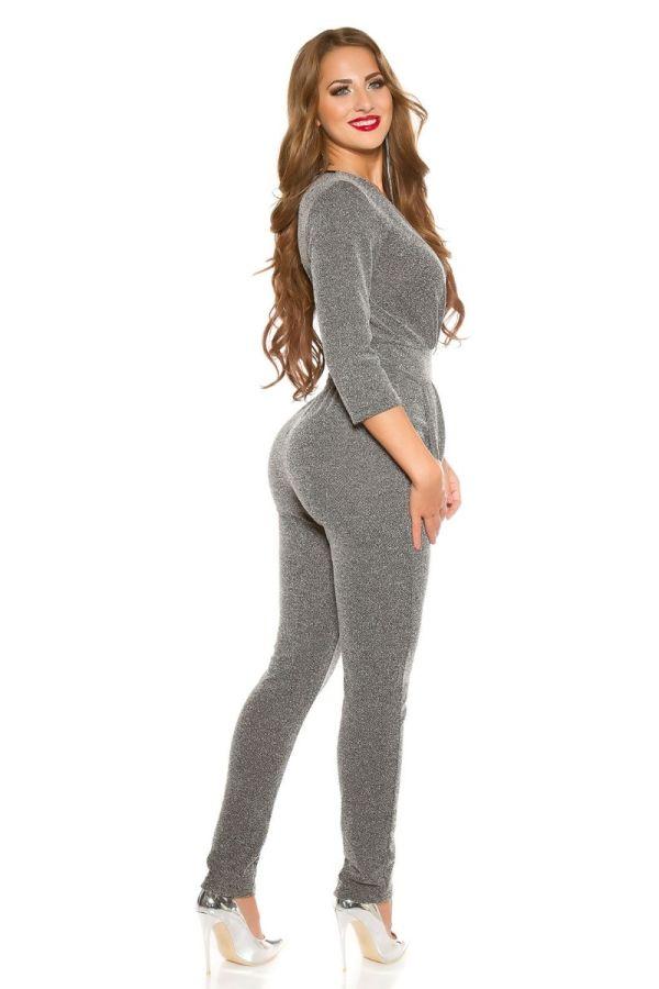 jumpsuit evening grey.