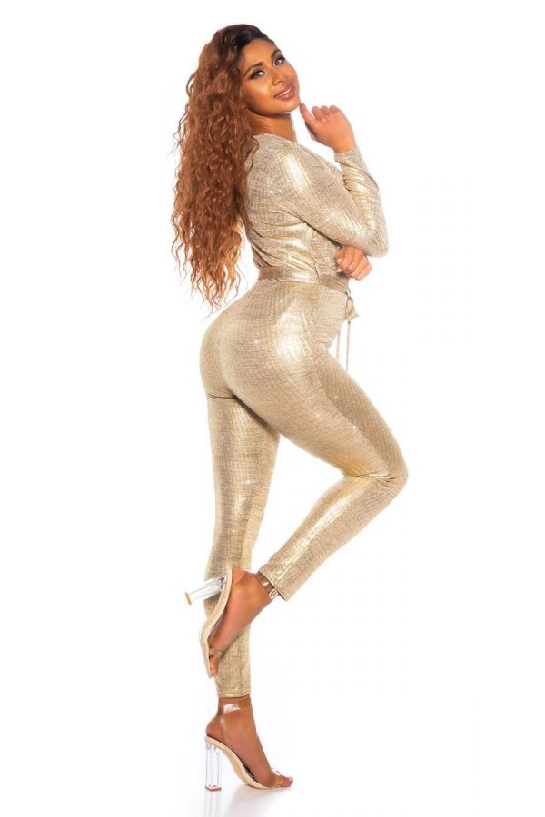 JUMPSUIT GLAMOUR SEXY GOLD ISDK963213
