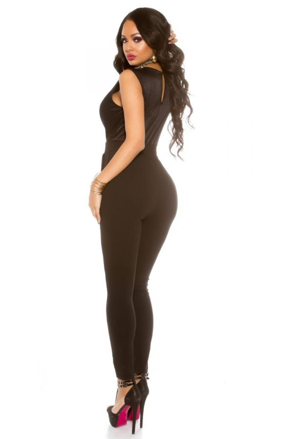 JUMPSUIT FORMAL SEXY GLITTER BLACK  ISDV606414