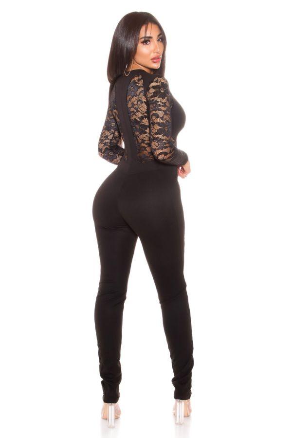 Jumpsuit Sexy Fashionista Lace Black ISDV1914112