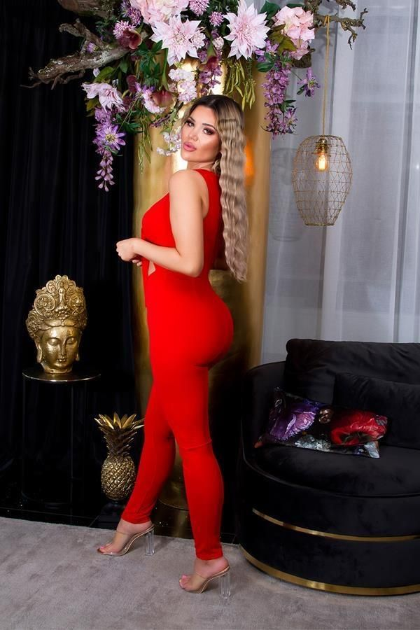 JUMPSUIT SEXY BUSTIER RED ISDO20168