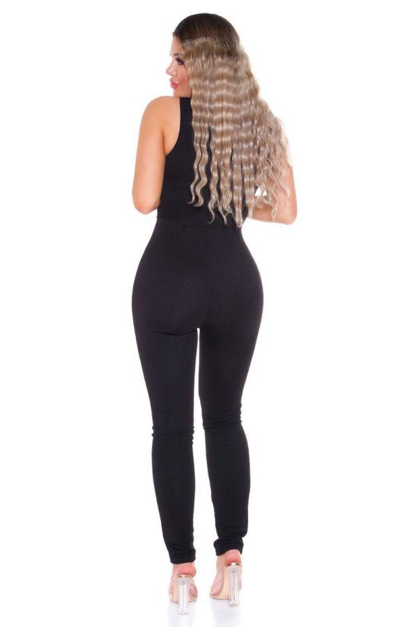 jumpsuit sexy bustier black.