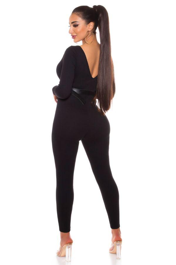 Jumpsuit Sexy Fashionista Black ISDV172597
