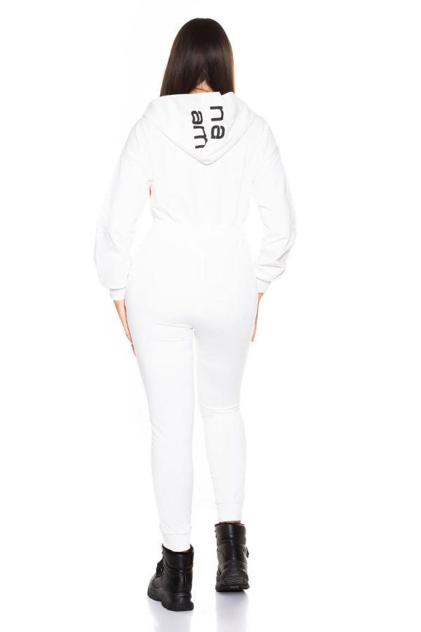 jumpsuit sport hood white.