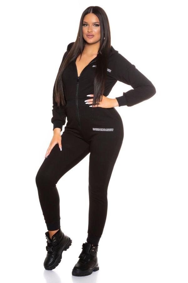 jumpsuit sport hood black.