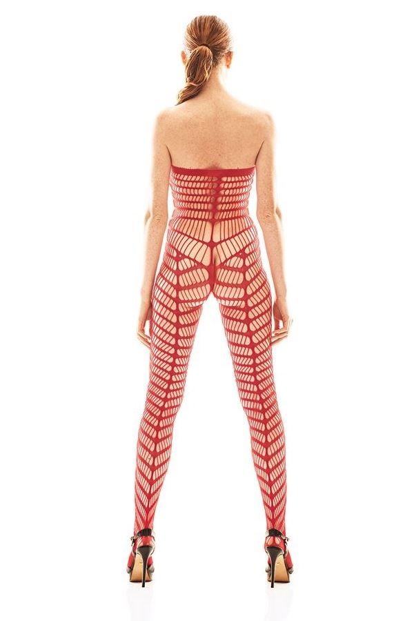 BODYSTOCKING NET SEXY RED ANORIC
