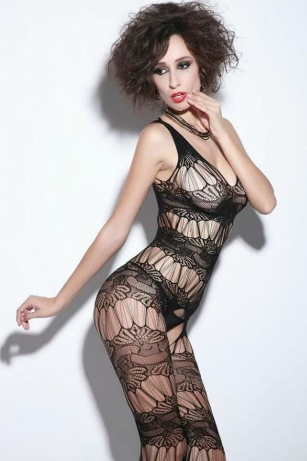 BODYSTOCKING NET BLACK DRE208690