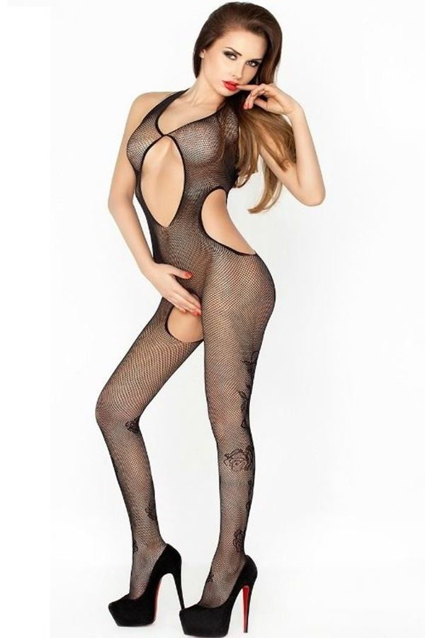 BODYSTOCKING NET BLACK DRE216379