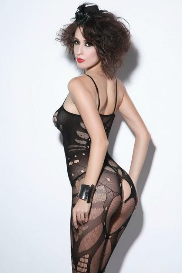 BODYSTOCKING NET BLACK DRE208682