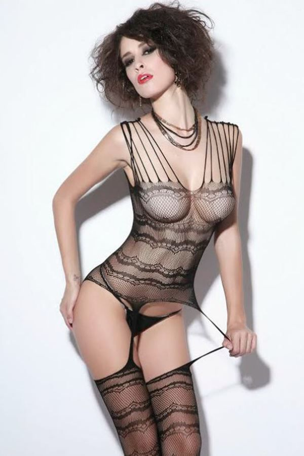 BODYSTOCKING NET BLACK DRE208629