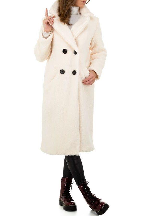 παλτό γούνινο μακρύ άσπρο.