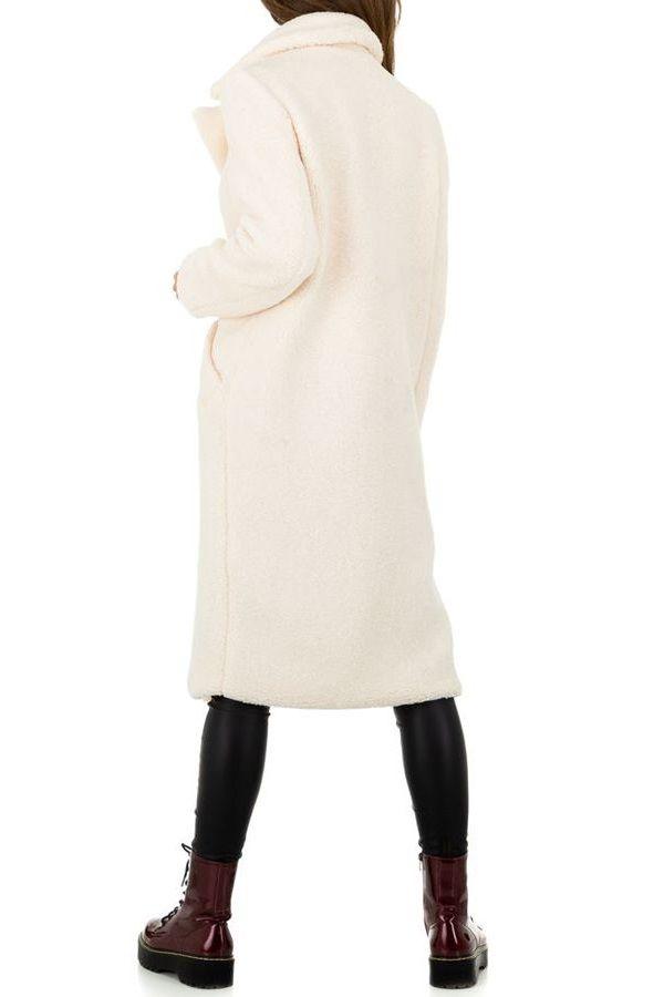 COAT FUR LONG WHITE FSWJ86021