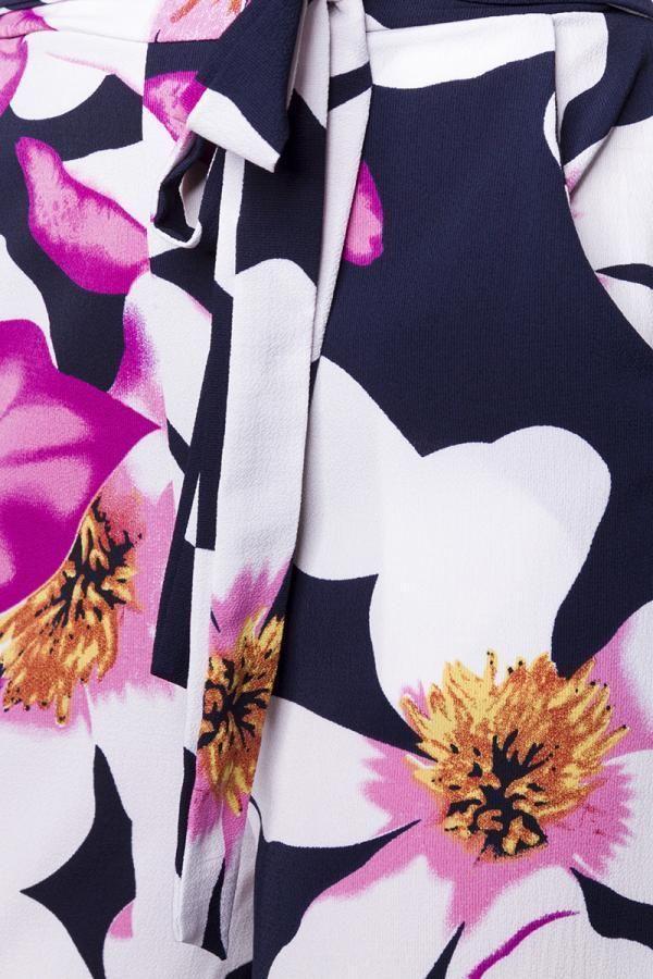 παντελόνα φαρδιά καμπάνα floral πολύχρωμη.