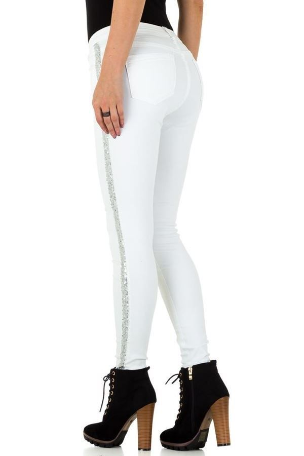 PANTS SILVER SEQUINS WHITE FSWJ1121