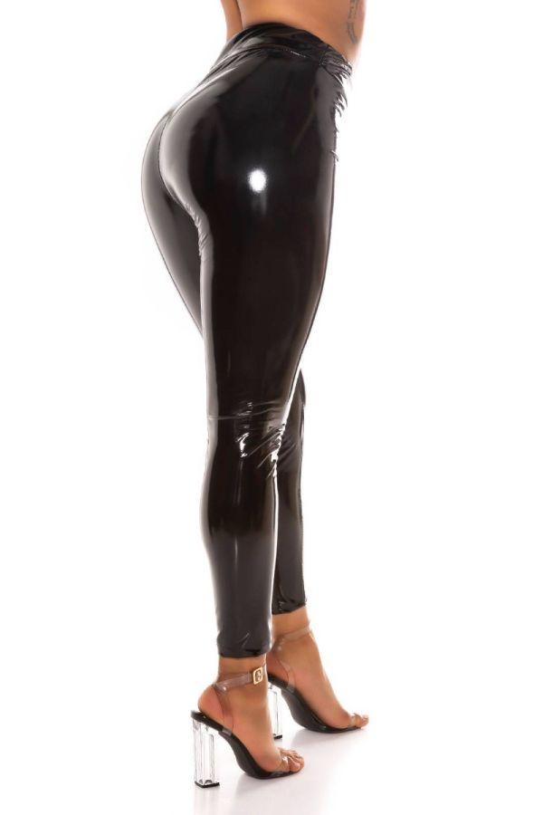 trousers vinyl sexy black.