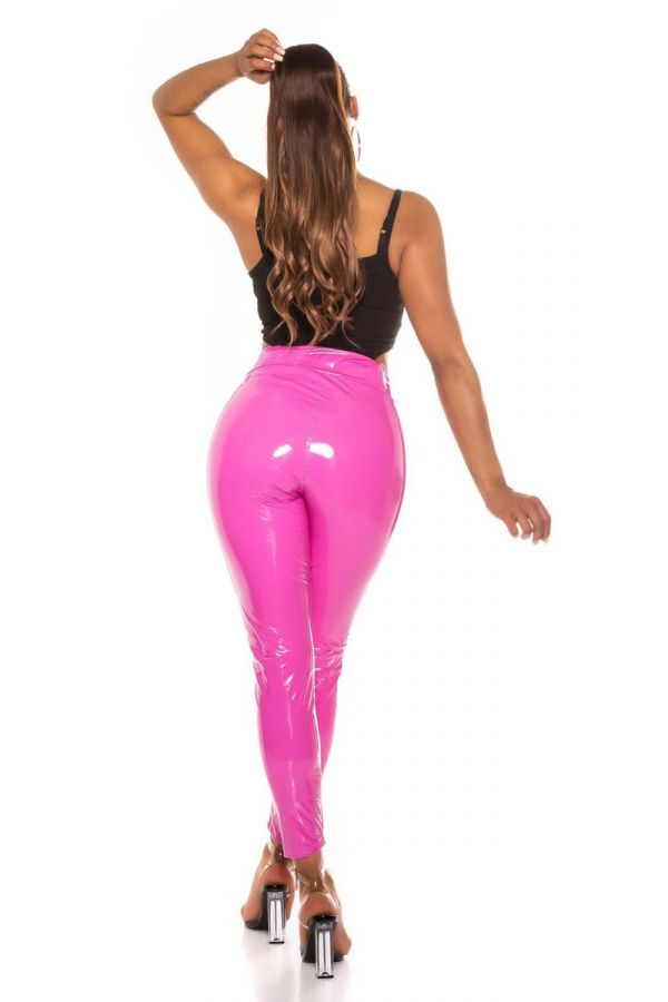 trousers vinyl sexy pink.