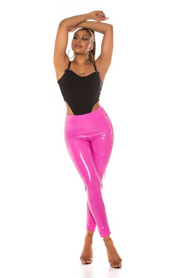 TROUSERS VINYL SEXY PINK ISDH331941