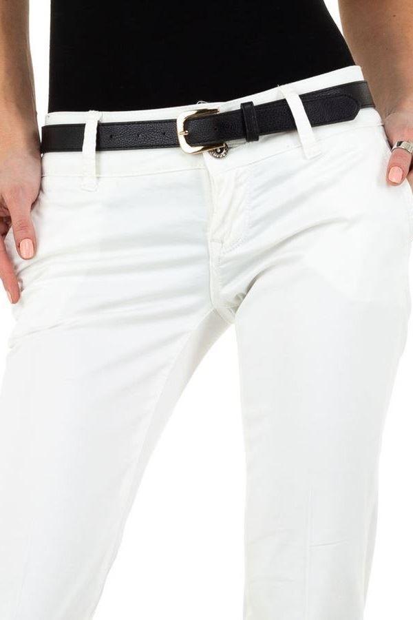 παντελόνι chino πλαϊνές τσέπες άσπρο.