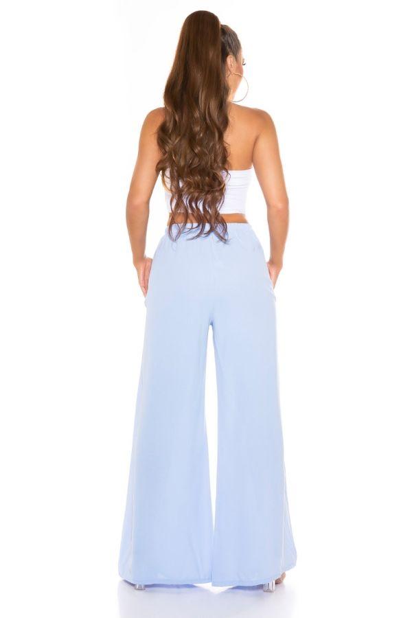 παντελόνι καλοκαιρινό φαρδύ λάστιχο baby μπλε.
