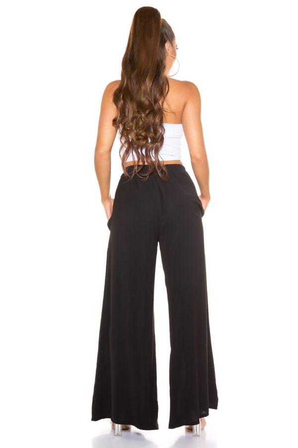 pants summer elasticated wide black.