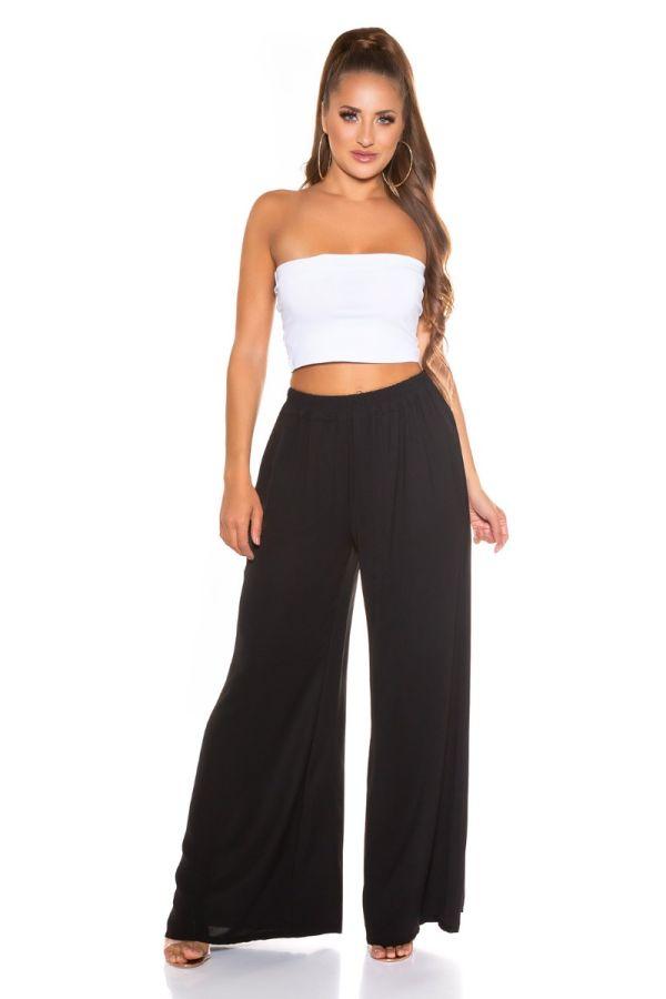 Pants Summer Elasticated Wide Black ISDH761913