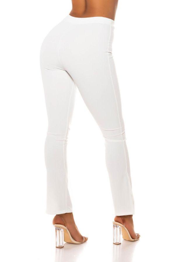 highwaist pants wide legs white.
