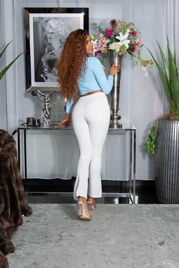 HIGHWAIST PANTS WIDE LEGS WHITE ISDH15770