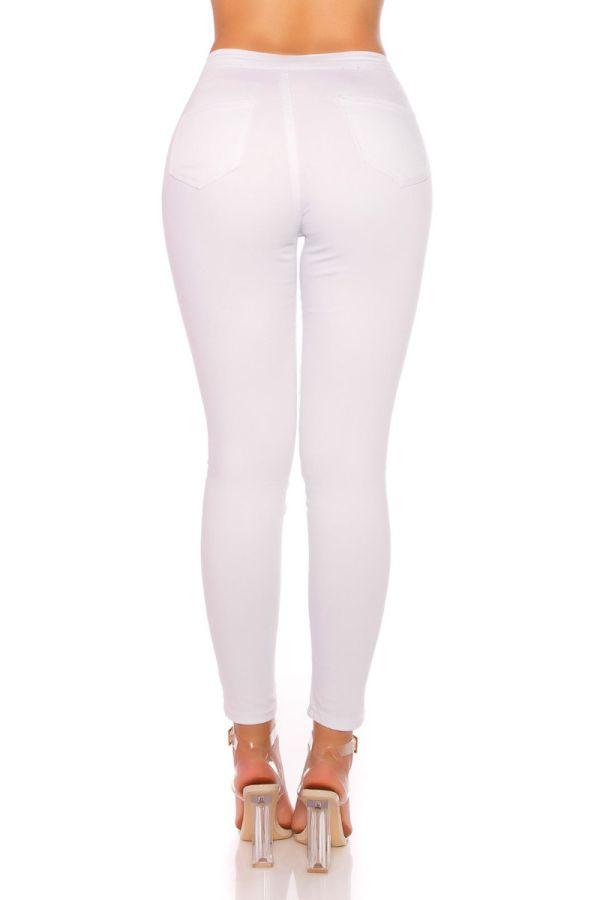 παντελόνι εφαρμοστό ψηλή μέση άσπρο.