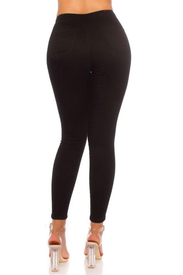 παντελόνι εφαρμοστό ψηλή μέση μαύρο.
