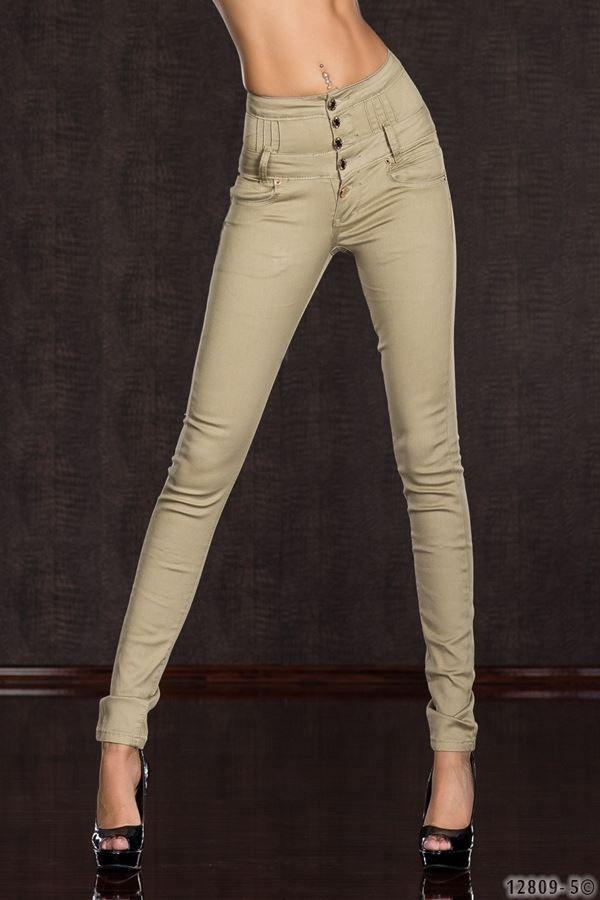 pants high waist beige