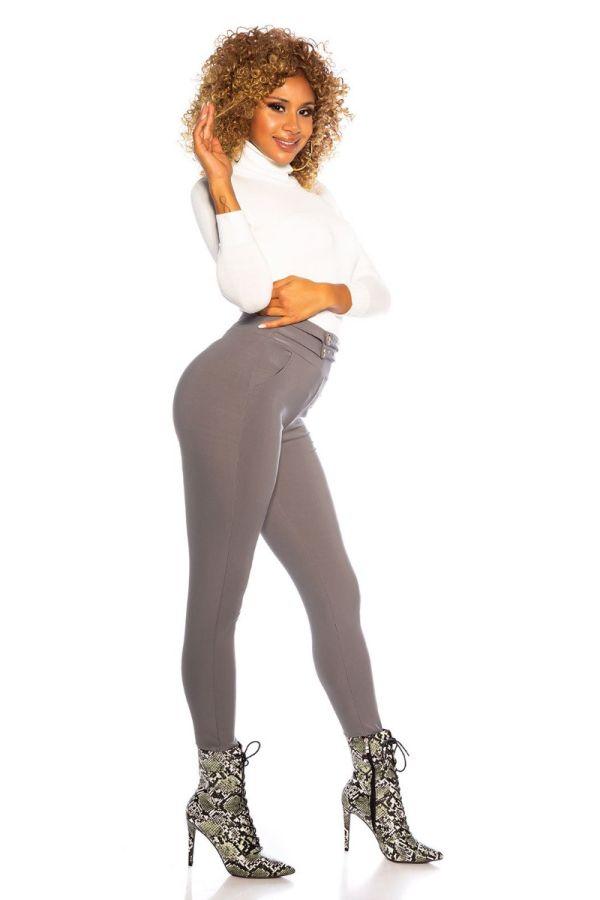 παντελόνι ψηλόμεσο διακόσμηση γκρι.
