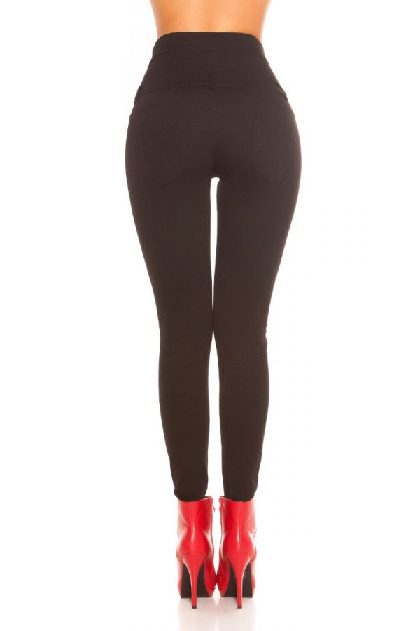 παντελόνι ψηλή μέση μαύρο.