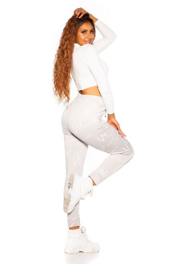 TROUSERS SPORT CORDS GREY ISDE49894