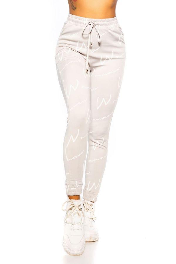 παντελόνι σπορ λάστιχο κορδόνια γκρι.