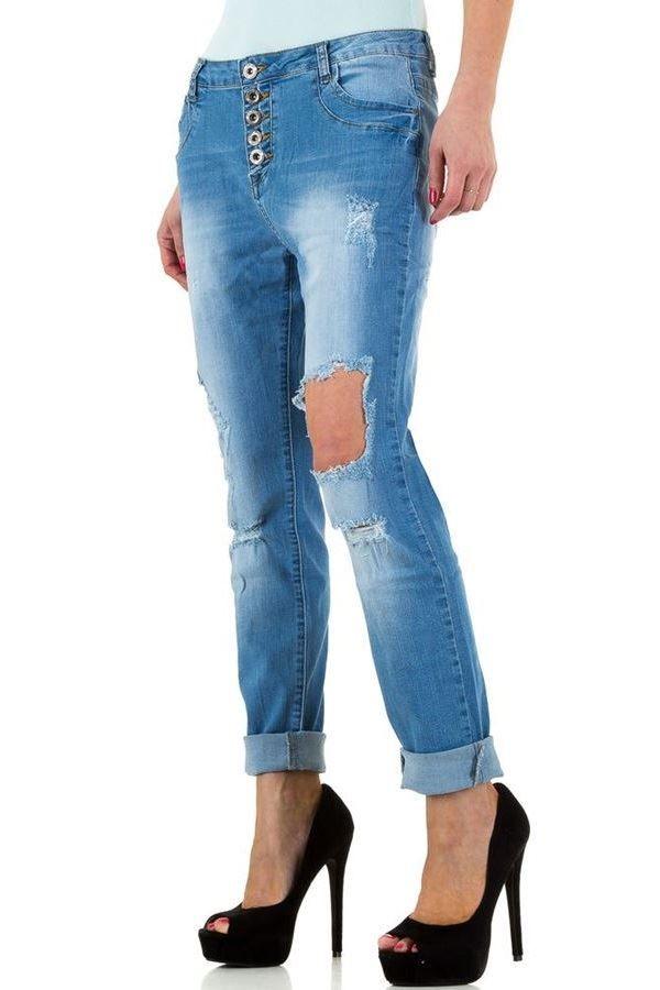 παντελόνι τζιν ξεβαμμένο σκισίματα ανοιχτό μπλε.